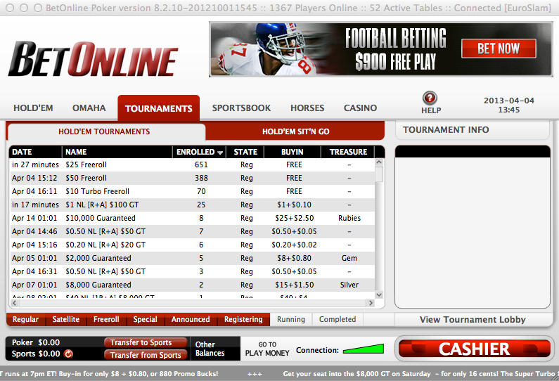 Download BetOnline Poker