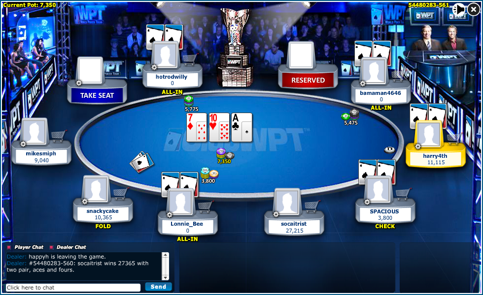 Club wpt poker casino game online for free