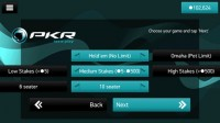 PKR Poker Mobile - Lobby
